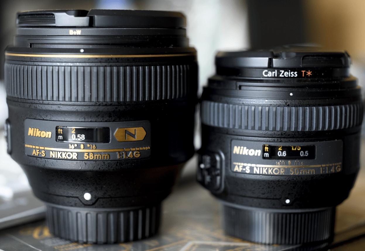 Nikon 50mm versus 58mm – Teil 1