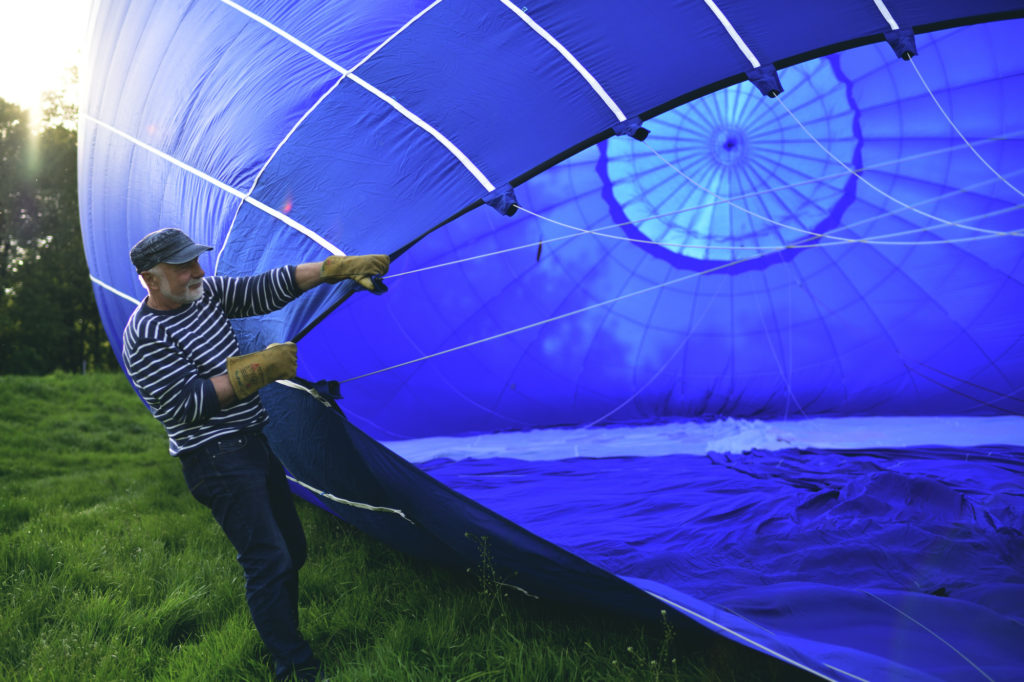 Vorbereitung der Ballonfahrt