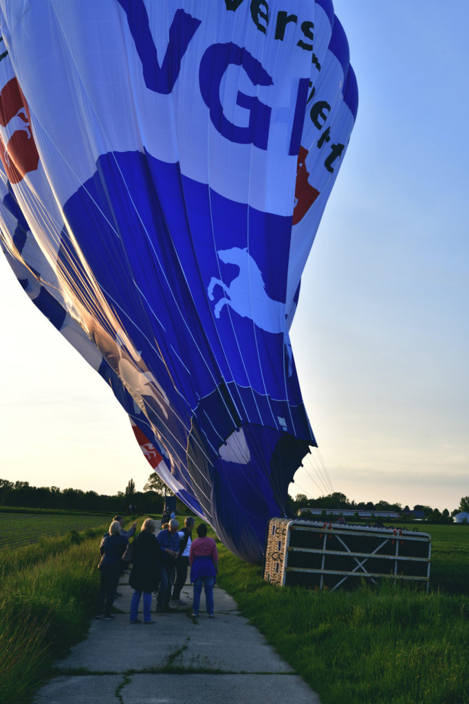 Ballonfahrt ist beendet, kurz nach der Landung