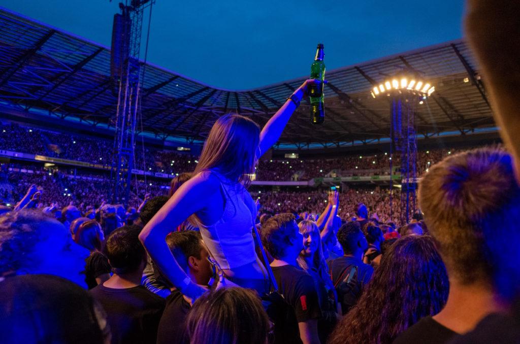 Rammstein läßt das Publikum feiern