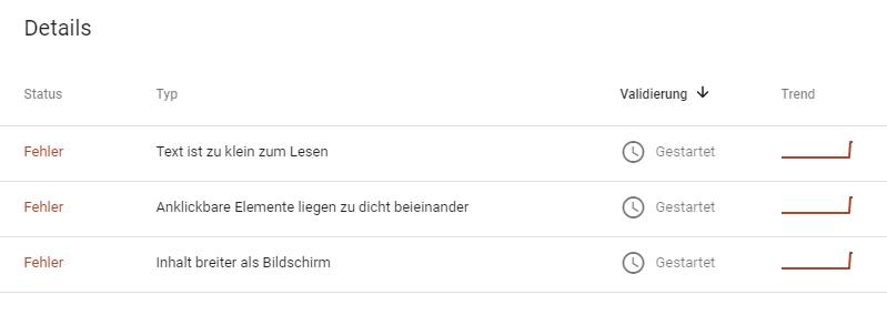 Google Fehlermeldung zu meinem Blog