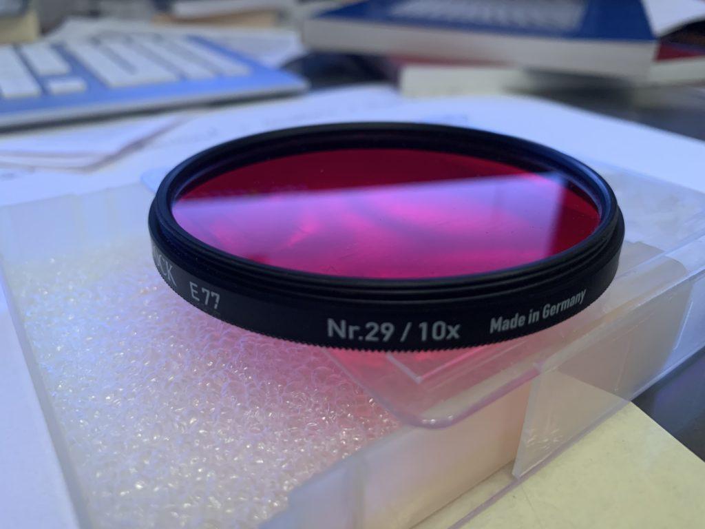 Rotfilter für die Analogfotografie