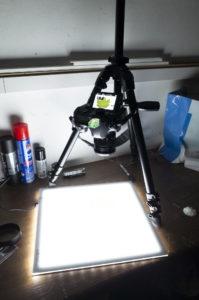 Walimex pro LED Leuchttisch mit Nikon D850 und Zeiss Makro-Planar 50mm