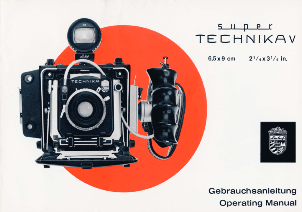 Linhof Super Technika V manual / Gebrauchsanleitung
