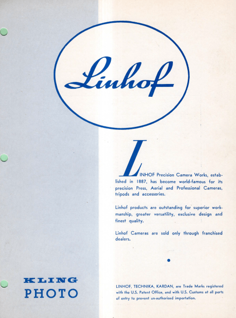 Linhof Pricelist 1963 english