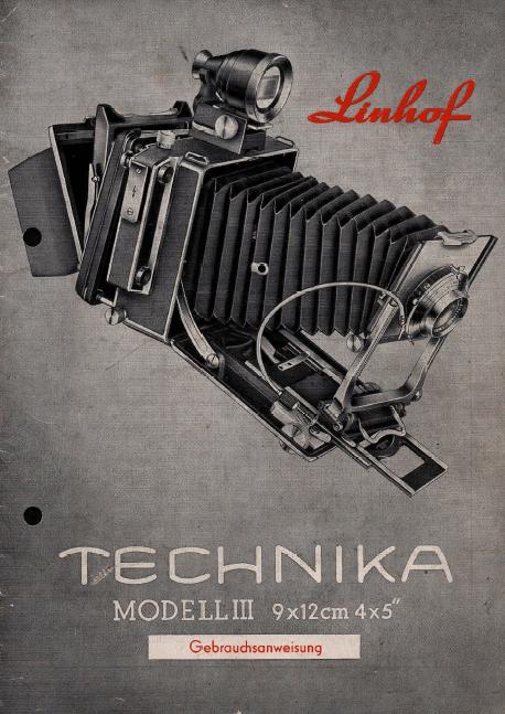 Gebrauchsanleitung Linhof Technika III deutsch