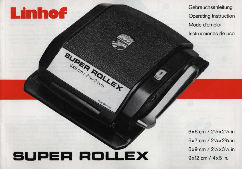 Super rollex manual anleitung linhof