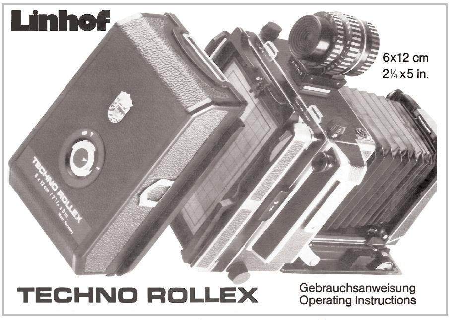 Linhof Techno Rollex Gebrauchsanweisung / Operating Instruction (Deutsch, English, France)