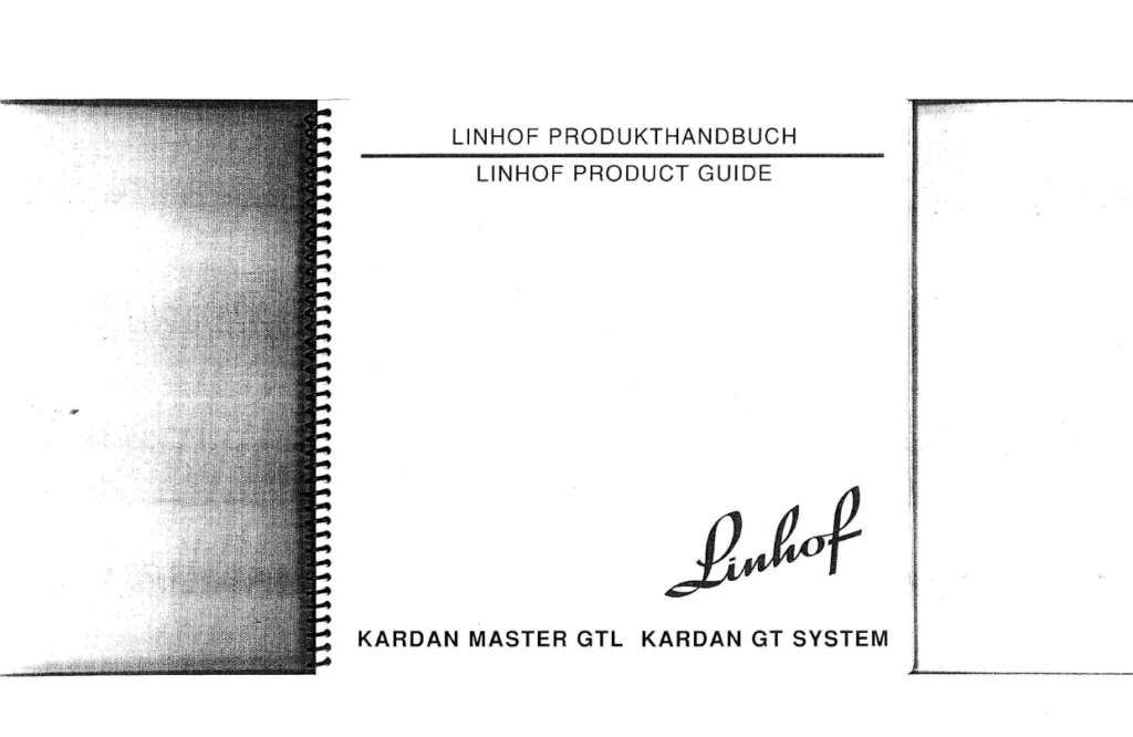 Linhof Product Guide manual guide KARDAN MASTER GTL / Produkthandbuch (English/German)