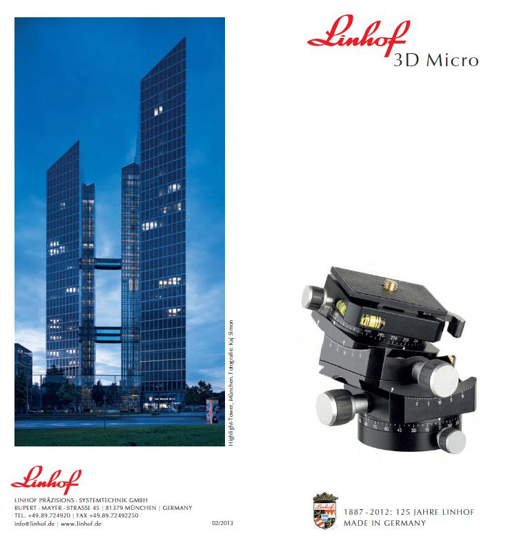 Linhof 3d Micro Benutzerhandbuch manual guide