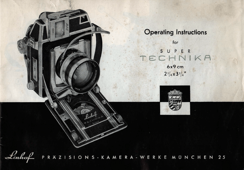 Operating Instructions for Super Technika 6x9 (English) manual guide betriebsanleitung Linhof