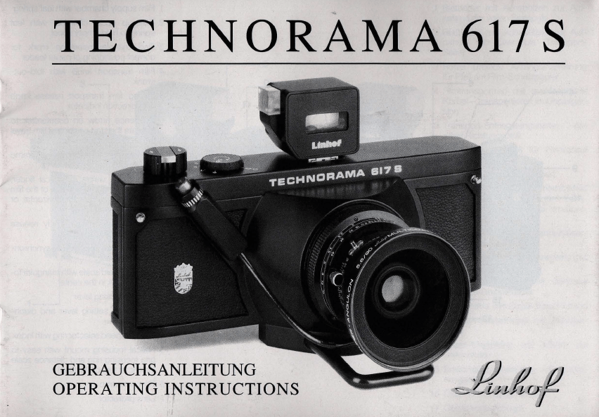 Anleitung Linhof Technorama 617 S (1992 / deutsch, english) manual operating instsruction