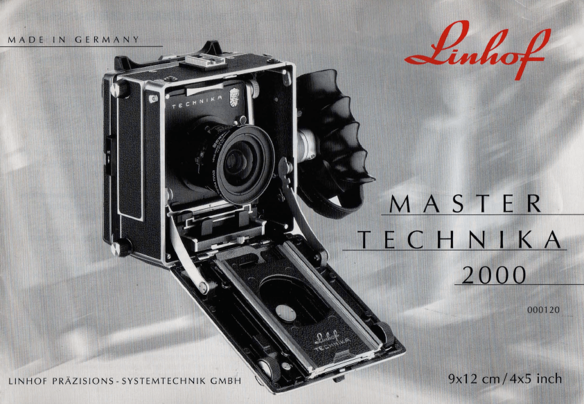 Linhof Master Technika 2000 Manual / Gebrauchsanleitung
