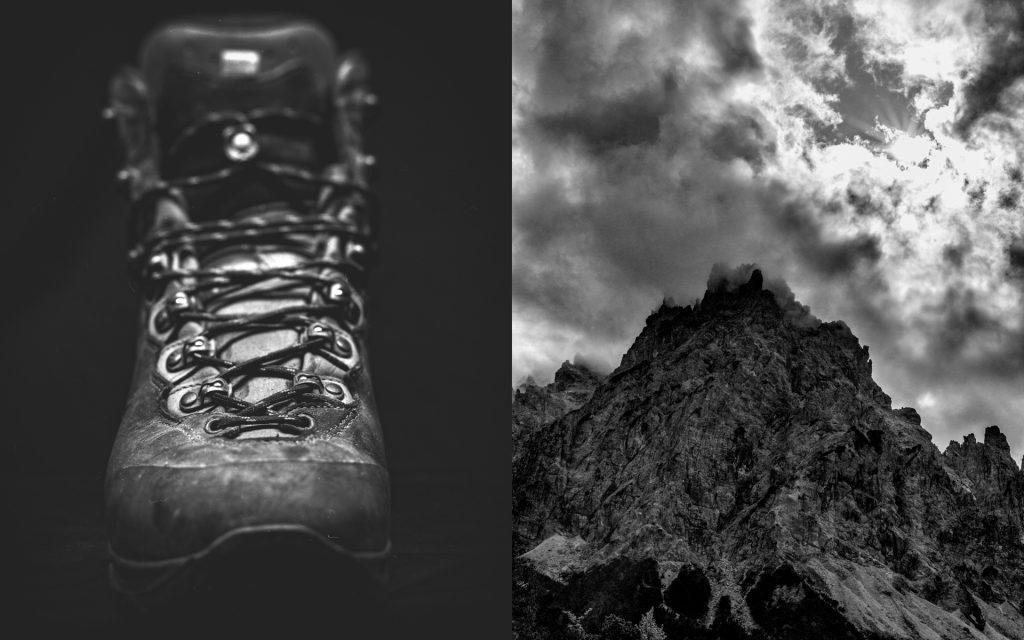 Diptychon, Wandern, Schuhe, Wanderlust