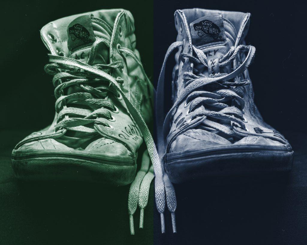 Produktfotografie Schuhe Großformat
