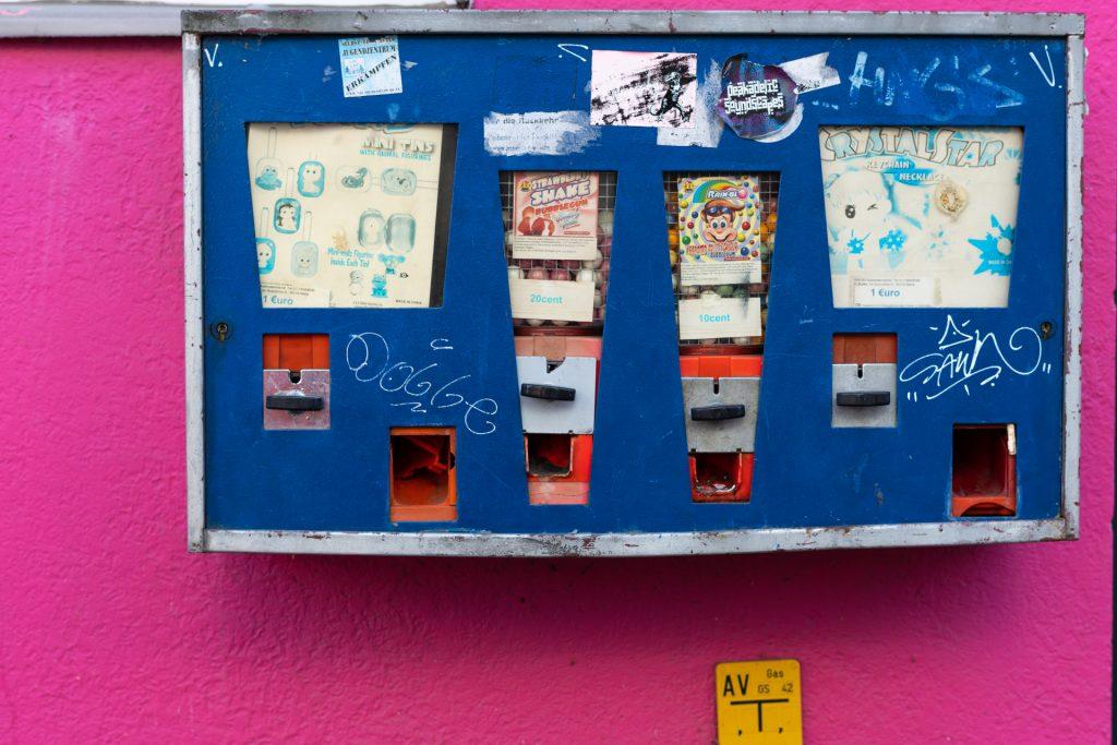 Kaugummiautomat, Verkaufsautomat für Kinderfreuden