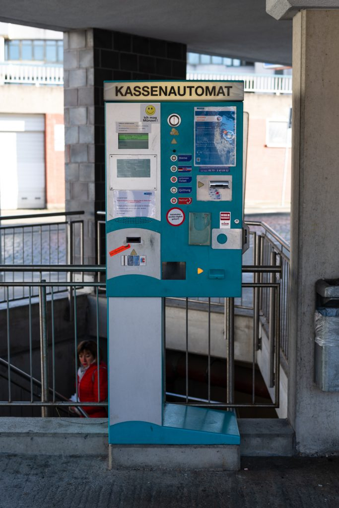 Kassenautomat, Parkautomat, Verkaufsautomat für Parktiketts
