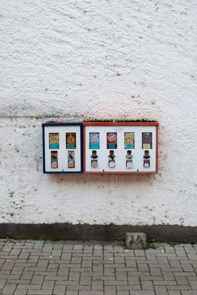 Kaugummiautomat, Verkaufsautomat der alten Schule